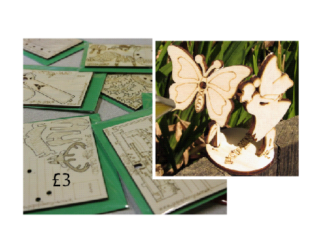 Novelty Wooden Postcards Details